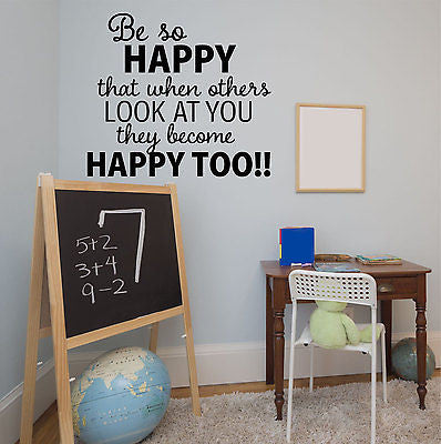 Be So Happy Wall Decal - Decor Designs Decals