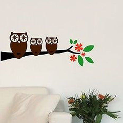 3 Little Owls Wall Decal - Decor Designs Decals - 1
