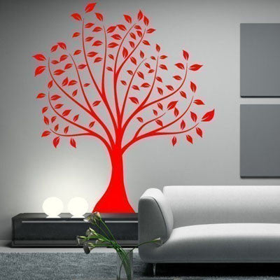 Large Leafed Tree Wall Decal- by Decor Designs Decals, tree decal, wall decals, tree wall decal, nursery wall decal, nature decal, wall decal, large tree decal, bird decals, nursery decor, tree sticker, wall sticker, wall art, tree mural - Decor Designs Decals - 1