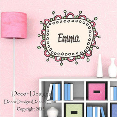 Girl Name Wall Decal- by Decor Designs Decals, Girls Name, Wall Decal,