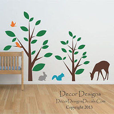 Animal Forest Wall Decal - Decor Designs Decals - 1