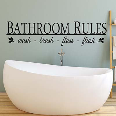 Bathroom Rules Wall Decal - Decor Designs Decals