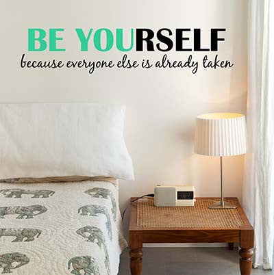 be yourself wall decal decor designs decals - Wall Design Decals