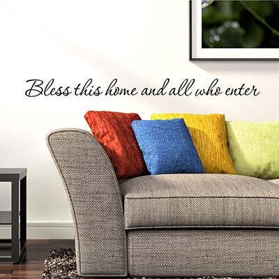 Bless This Home Wall Decal - Decor Designs Decals