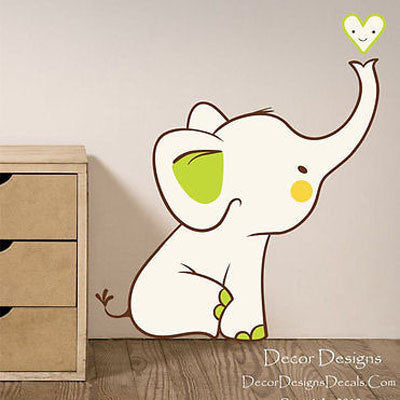 Baby Elephant Wall Decal - Decor Designs Decals