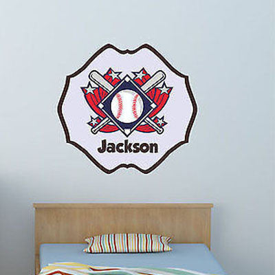 Baseball Name Wall Decal - Decor Designs Decals