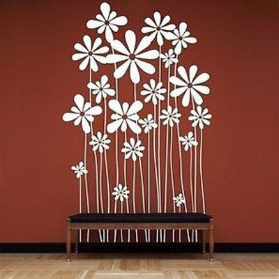 Beautiful Flowers Wall Decal - Decor Designs Decals