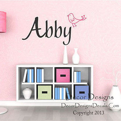 Birdie Name Wall Decal - Decor Designs Decals
