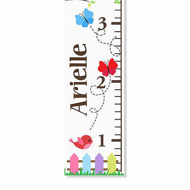 Butterflies Canvas Growth Chart - Decor Designs Decals