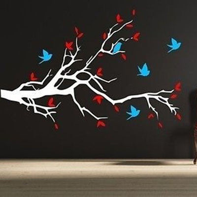 Birds and Blossoms Wall Decal - Decor Designs Decals