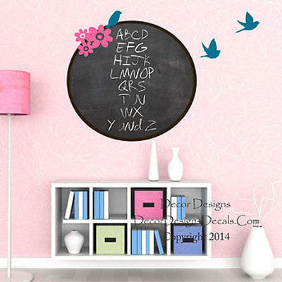 Birds and Flowers Chalkboard Decal - Decor Designs Decals