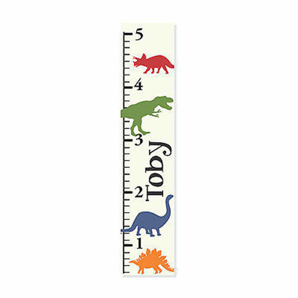 Dinosaur Canvas Growth Chart - Decor Designs Decals