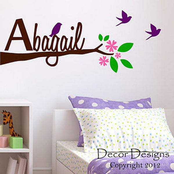 Branch Name Wall Decal - Decor Designs Decals