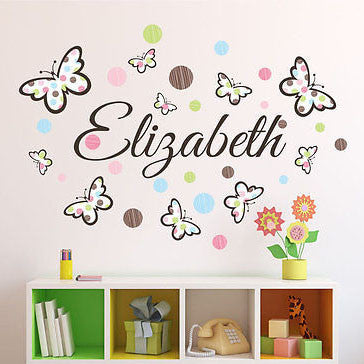 Butterflies and Polka Dots Wall Decal - Decor Designs Decals