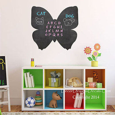 Butterfly Chalkboard Decal - Decor Designs Decals