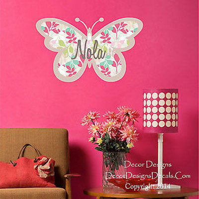 Butterfly Name Wall Decal - Decor Designs Decals
