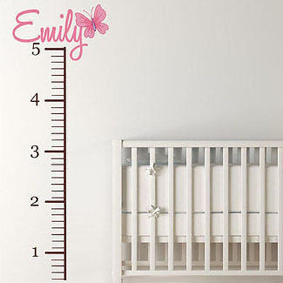 Butterfly Growth Chart Wall Decal- by Decor Designs Decals - Decor Designs Decals - 1