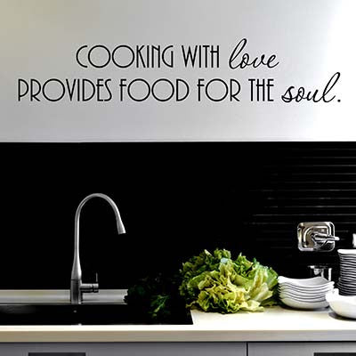 Cooking With Love Wall Decal - Decor Designs Decals