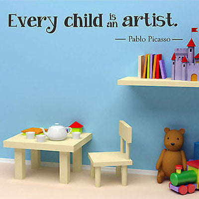 Pablo Picasso Quote Wall Decal - Decor Designs Decals
