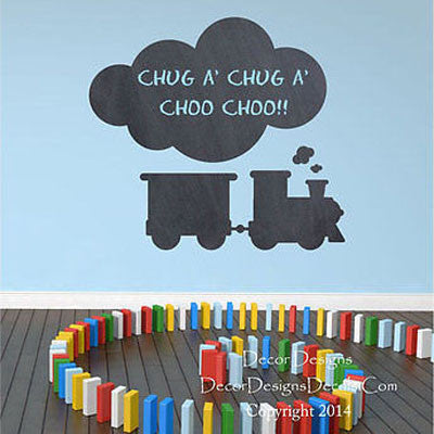 Train Chalkboard Wall Decal - Decor Designs Decals