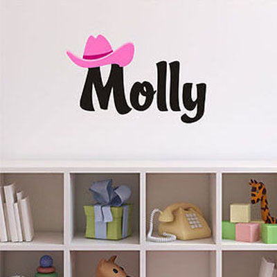Cowgirl Name Wall Decal - Decor Designs Decals