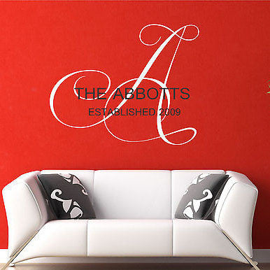Family Name Wall Decal - Decor Designs Decals