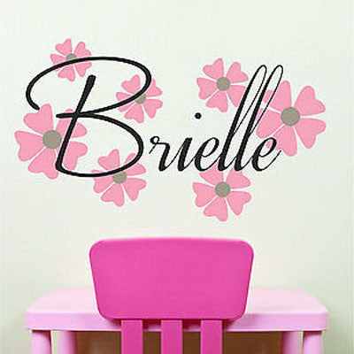 Flower Name Wall Decal - Decor Designs Decals