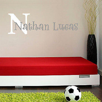 Boys Name and Initial Wall Decal - Decor Designs Decals