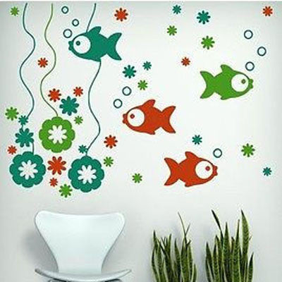 Fishy Scene Wall Decal - Decor Designs Decals