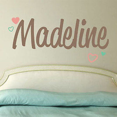 Heart Name Wall Decal - Decor Designs Decals