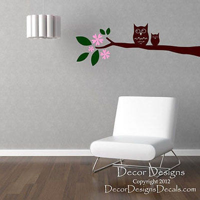Owl Branch Wall Decal - Decor Designs Decals