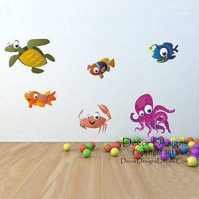 Sea Life Animals Wall Decal - Decor Designs Decals