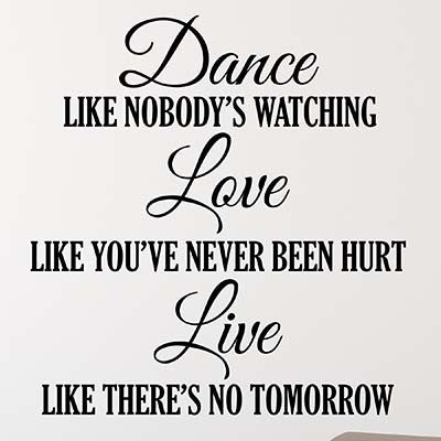 Dance Quote Wall Decal - Decor Designs Decals