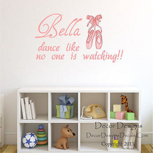 Girl's Dancing Quote Wall Decal - Decor Designs Decals