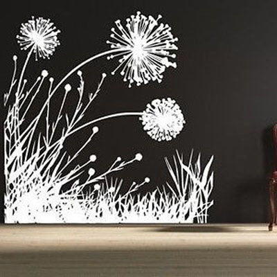 Dandelion Scene Vinyl Wall Decal - Decor Designs Decals