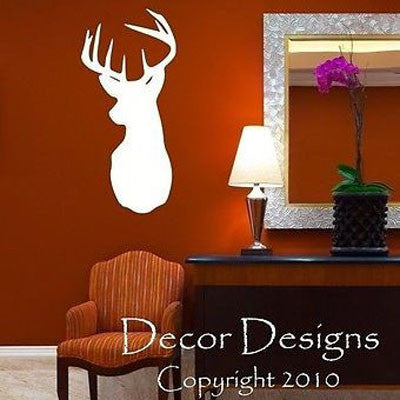 Deer Head Vinyl Wall Decal Sticker - Decor Designs Decals