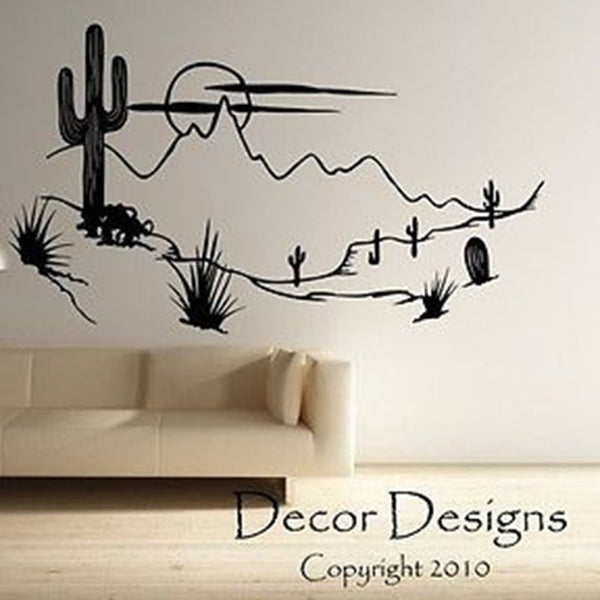 Desert Scenery Wall Decal - Decor Designs Decals