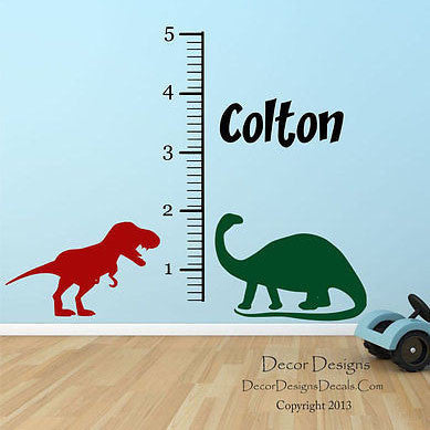 Dino Growth Chart Wall Decal - Decor Designs Decals - 1