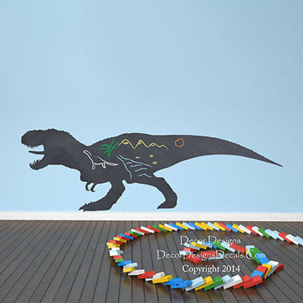 Dinosaur Chalkboard Decal - Decor Designs Decals