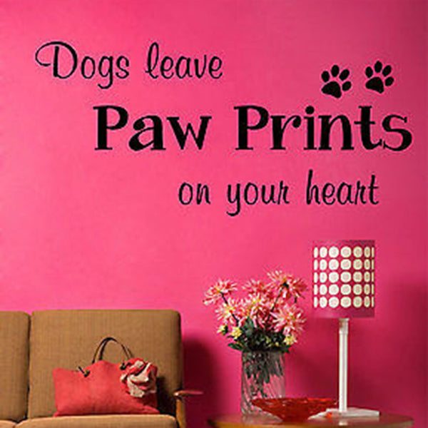 Dogs Leave Paw Prints Wall Decal - Decor Designs Decals