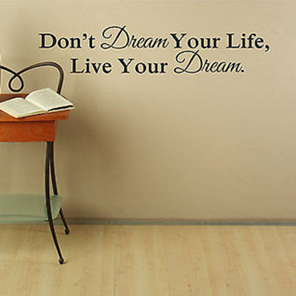 Live Your Dream Wall Decal - Decor Designs Decals