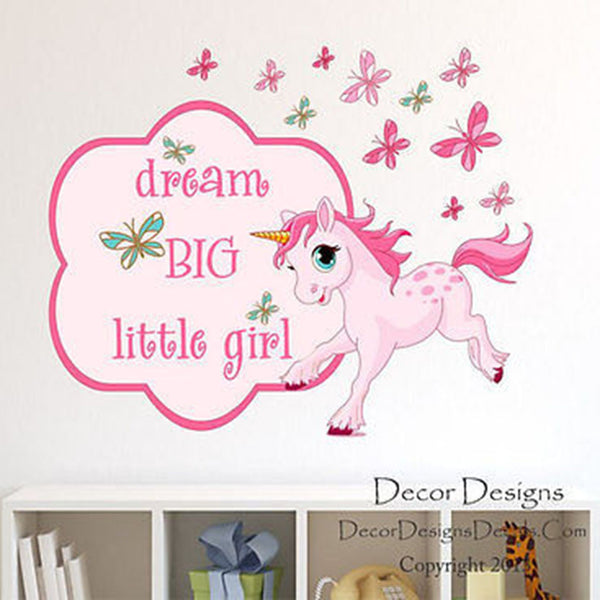Dream Big Quote Wall Decal - Decor Designs Decals