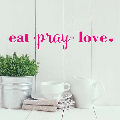 Eat Pray Vinyl Wall Decal Sticker - Decor Designs Decals