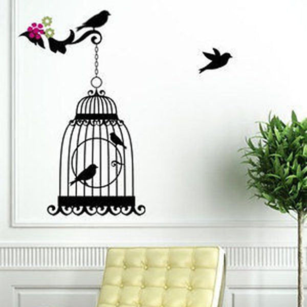 Elegant Bird Cage Vinyl Wall Decal Sticker - Decor Designs Decals