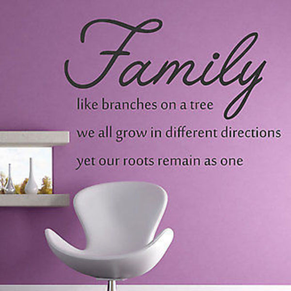 Family Like Branches On A Tree Quote Vinyl Wall Decal Sticker - Decor Designs Decals