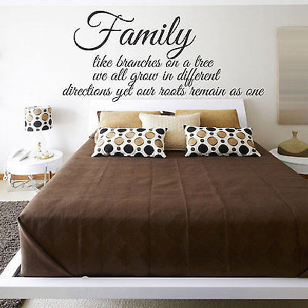 Family like Branches on a Tree, We all Grow Quote Vinyl Wall Decal Sticker - Decor Designs Decals