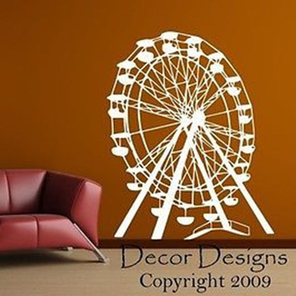 Ferris Wheel Vinyl Wall Decal Sticker - Decor Designs Decals