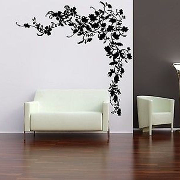 Floral Branch Vinyl Wall Decal - Decor Designs Decals
