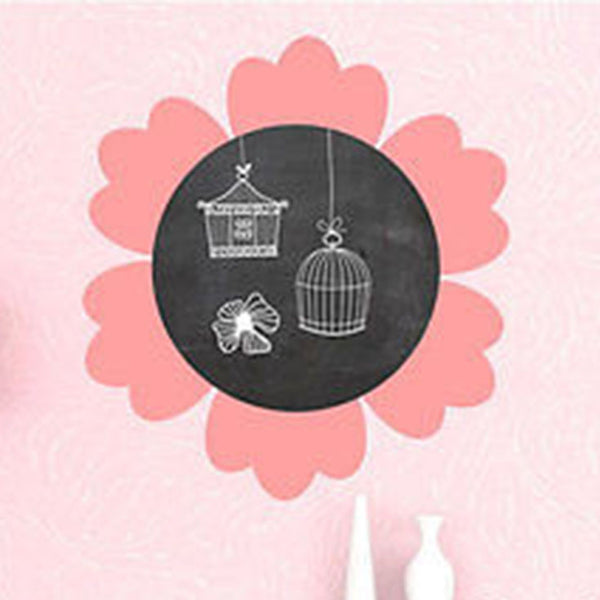 Flower Chalkboard Vinyl Wall Decal - Decor Designs Decals