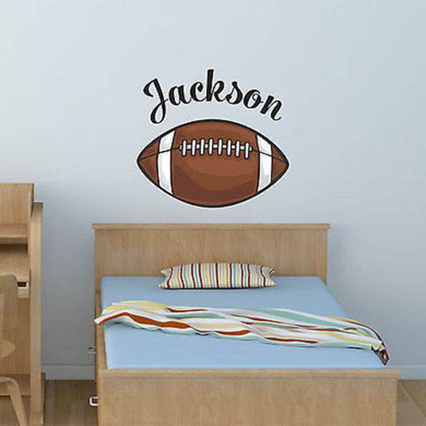 Football Custom Name Printed Fabric Repositionable Wall Decal Sticker - Decor Designs Decals